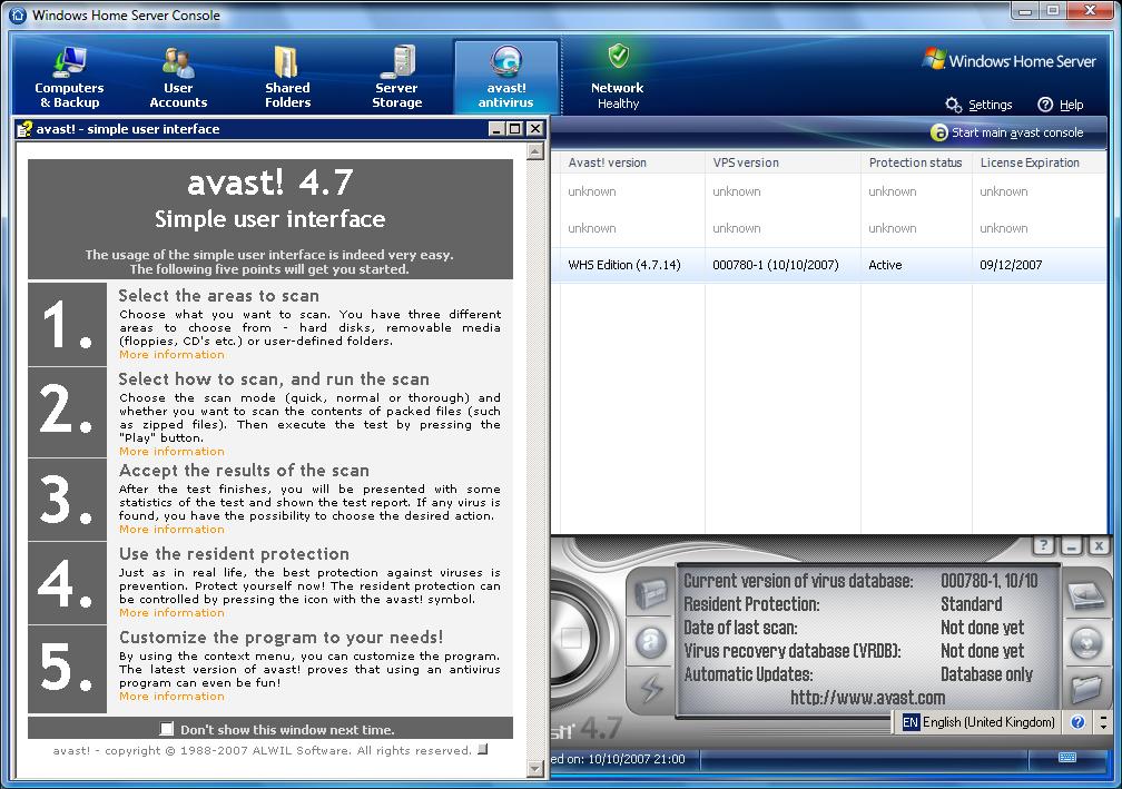 დასახელება:Avast Pro v4.7.1001 ტიპი:ანტივირუსი გამოშვების წელი:2007 ად.რეცე